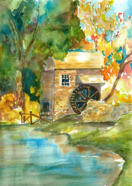 The Old Mill - Hattie's Art