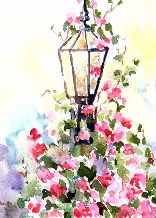 The Lamp - Hattie's Art