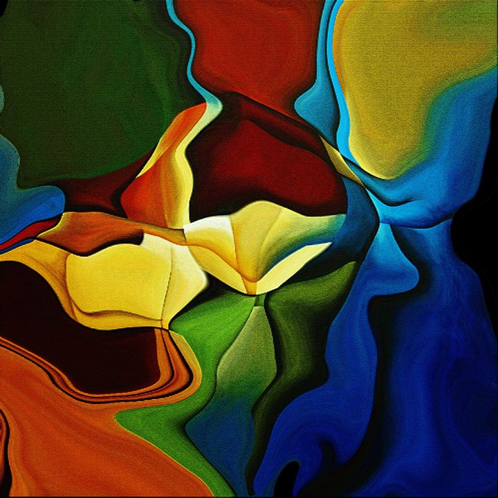 """Abstract """"She & Her Family"""" - Abstract Art by Richards C Sunny"""