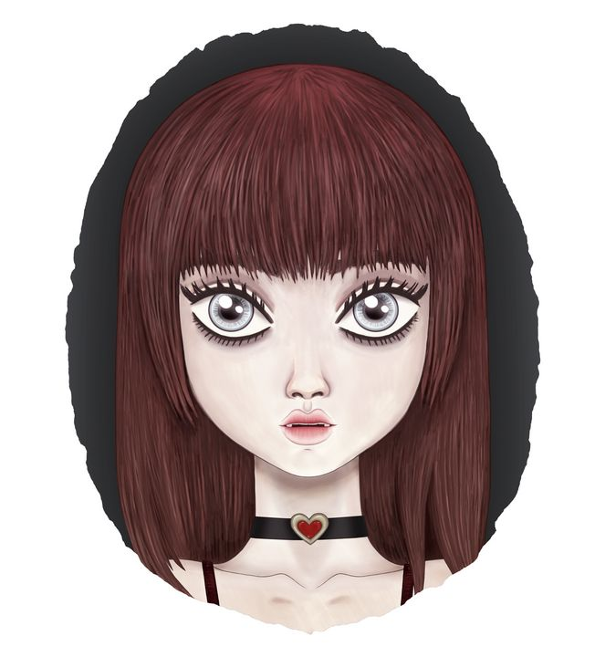 Dolly The Doll-faced Vampire Girl 2 - Drawn By Dark