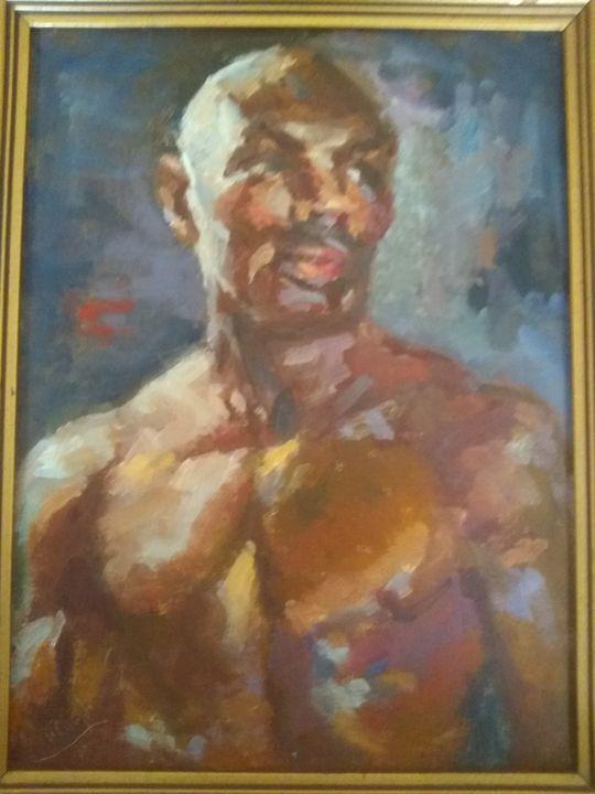 Boxer Marvelous Marvin Hagler - Kings Art Gallery