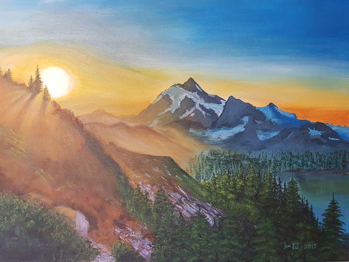 The sunset shadows - Mai Hall Art