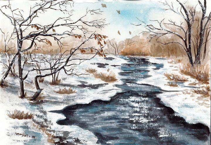 winter creek - Mai Hall Art