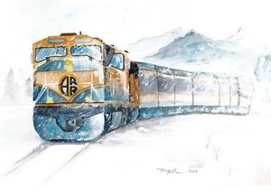 Alaskan train - on way the home