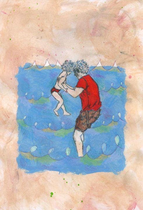 Dad between the waves - Federica Parone