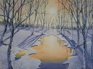 winter sunset - vanias love art