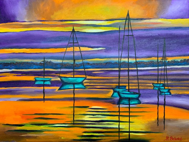 Sunset bliss - GBolanos Art Gallery