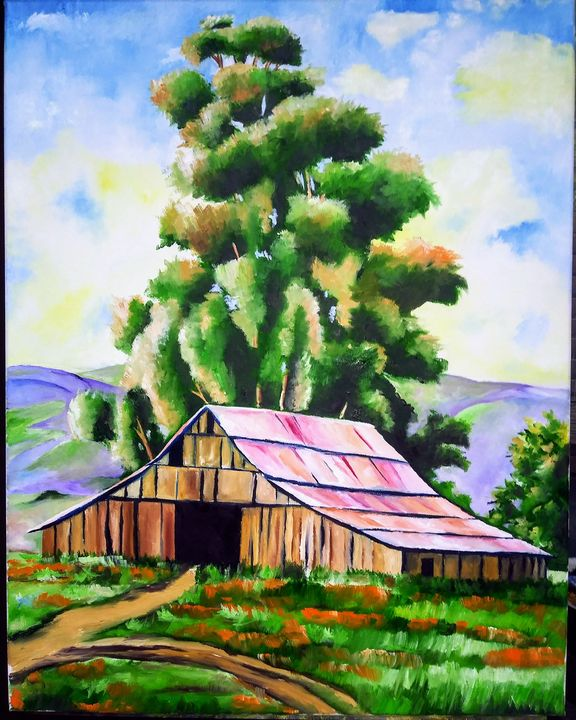 The old rusty barn - GBolanos Art Gallery