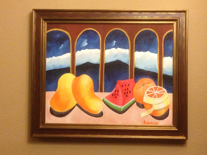 Two mangos and Watermelon - GBolanos Art Gallery