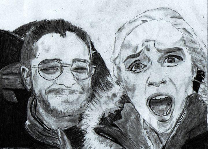 Emilia Clarke and Kit Harington - waruna Bartho