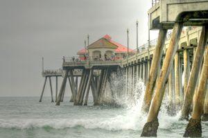Overcast Huntington Pier