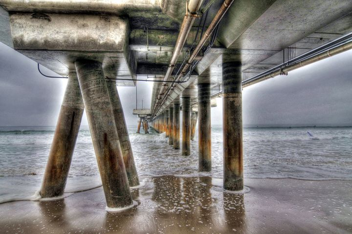 Venice Beach Pier Industrial 1 - Omura Photo Gallery