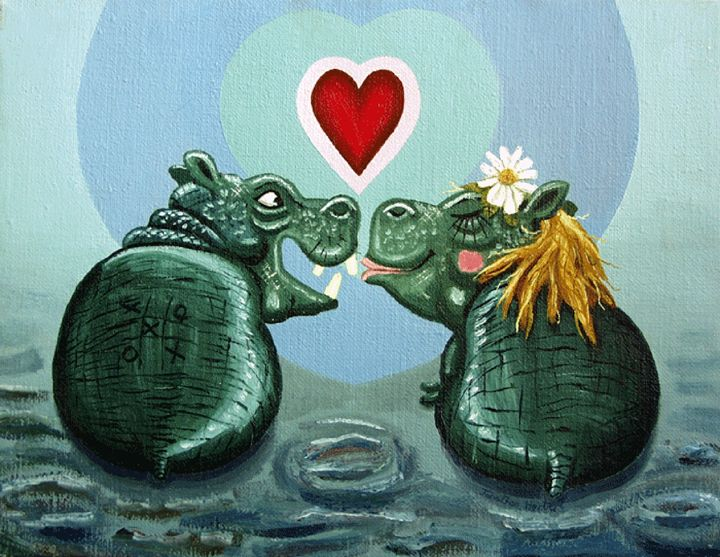 Love hippos - Charity 50%