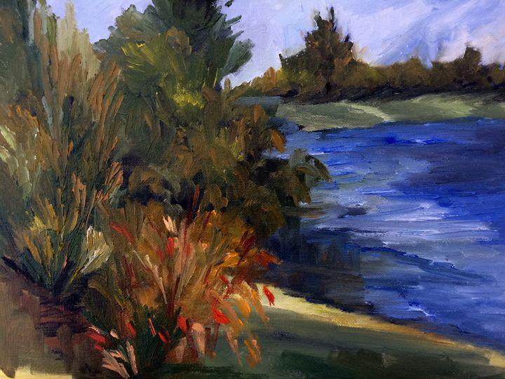almaden lake - Ramya Oil Paintings