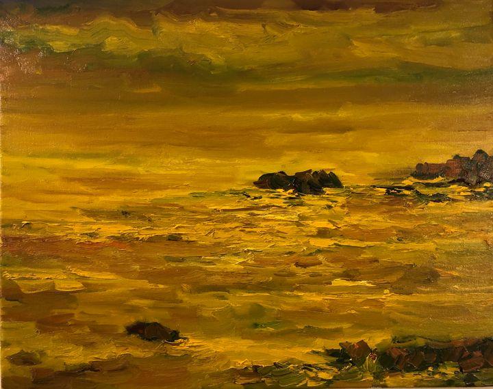 Meeting at the horizon - Ramya Oil Paintings