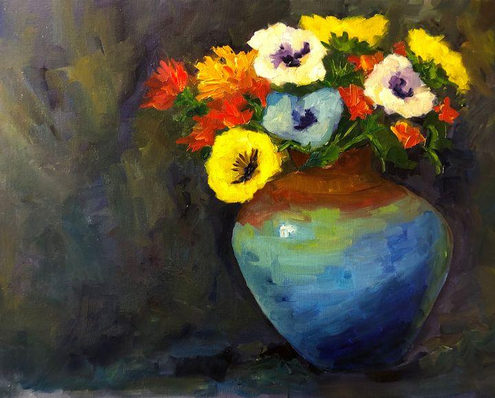 Pansies - Ramya Oil Paintings