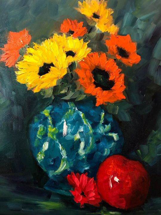 That Vase - Ramya Oil Paintings