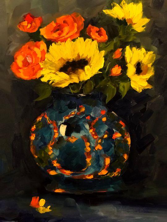 Flowers of Joy - Ramya Oil Paintings