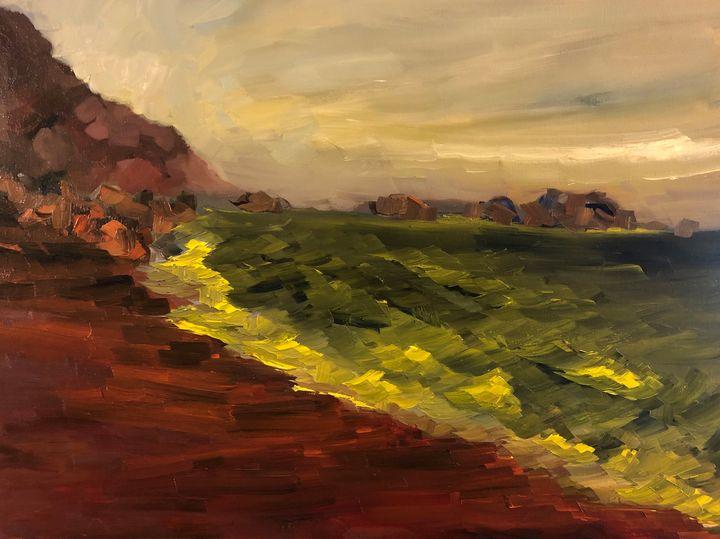 Dance of the waves - Ramya Oil Paintings