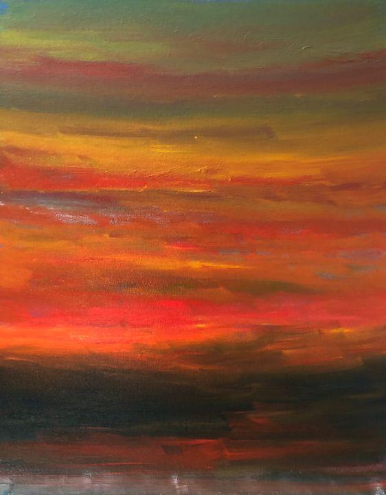 That morning glow - Ramya Oil Paintings