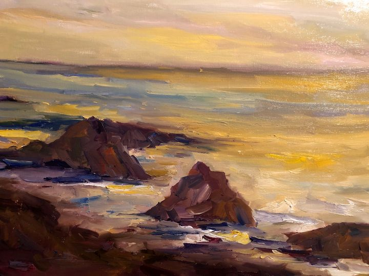 Instant of time - the Waves - Ramya Oil Paintings