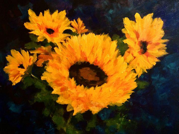 Happy Monday - Ramya Oil Paintings