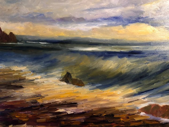 That wave - Ramya Oil Paintings