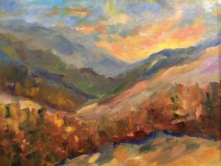 Pristine Mountains - Ramya Oil Paintings