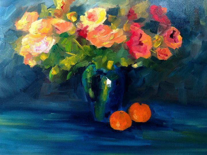 Bunch of roses - Ramya Oil Paintings