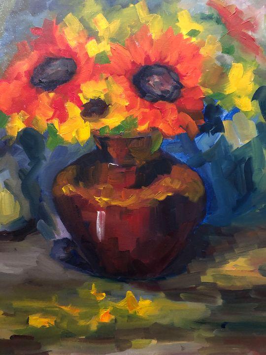 sunflower bunch - Ramya Oil Paintings