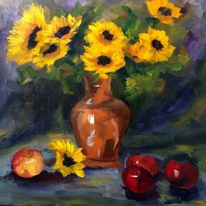 Abundance of sunflowers