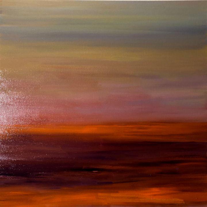 Orange line - Ramya Oil Paintings