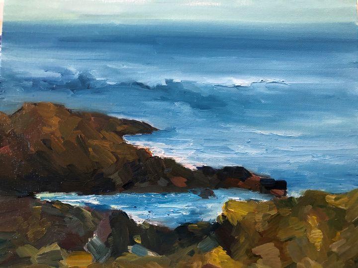 Peaks at Carmel - Ramya Oil Paintings