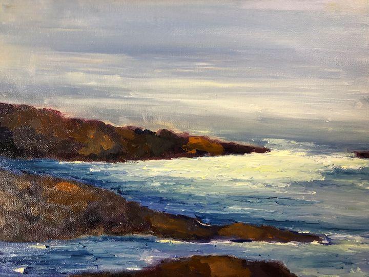 Plesant morning at Carmel - Ramya Oil Paintings