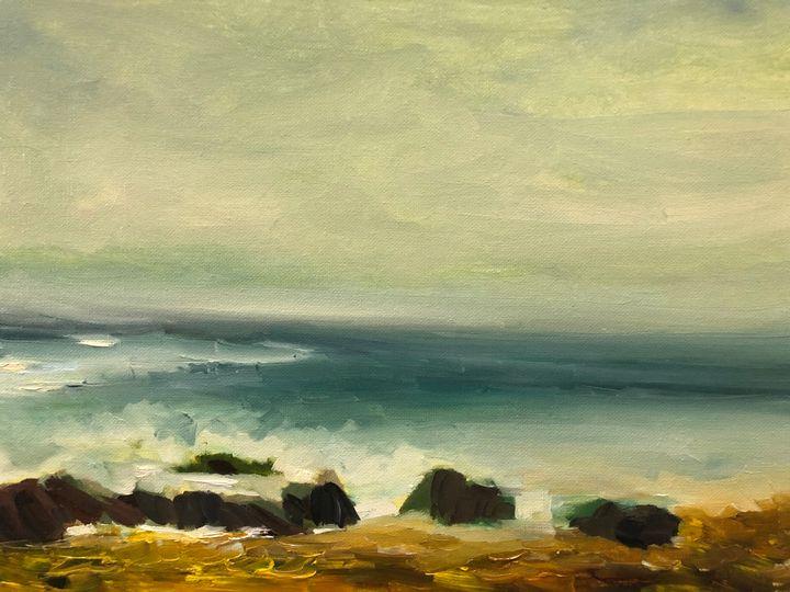 Muir beach waves - Ramya Oil Paintings