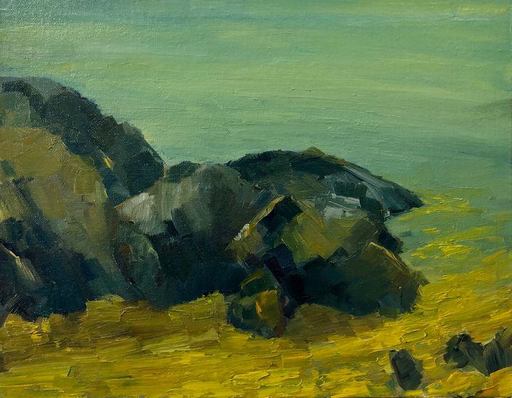 View point at carmel - Ramya Oil Paintings