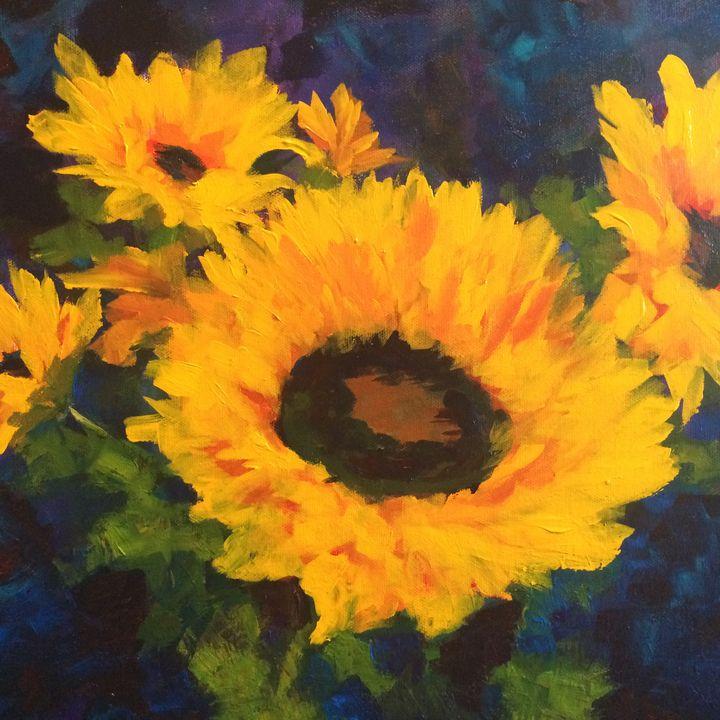 Sunflower 1 - Ramya Oil Paintings
