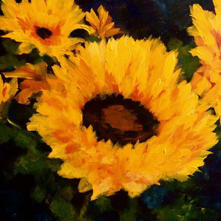 Sunflower 4 - Ramya Oil Paintings