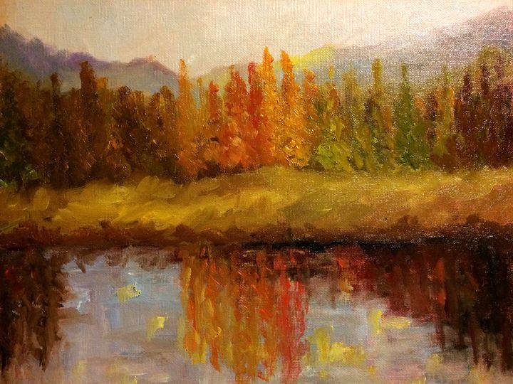 Fall view - Ramya Oil Paintings