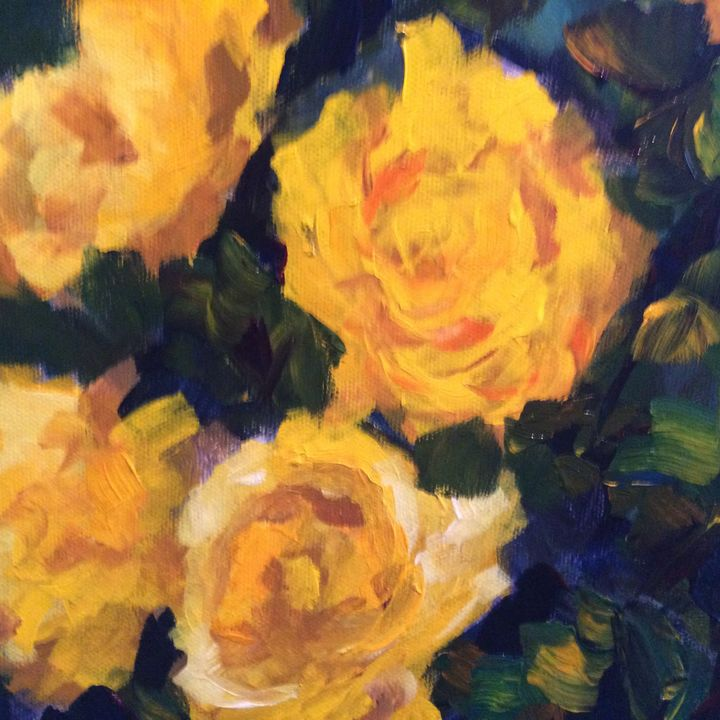 Rose 4 - Ramya Oil Paintings