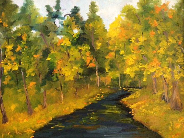Touch of fall - Ramya Oil Paintings
