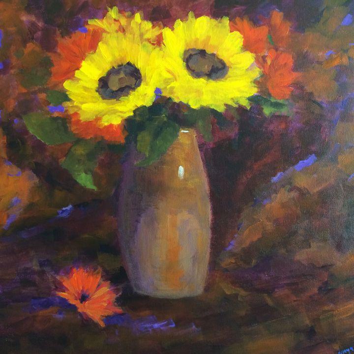 Orange Glow - Ramya Oil Paintings