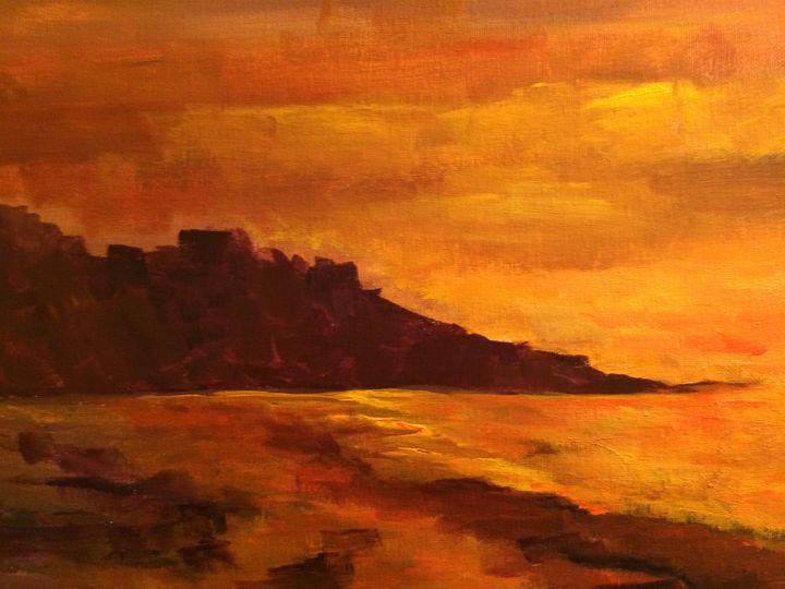 Setting Sun - Ramya Oil Paintings