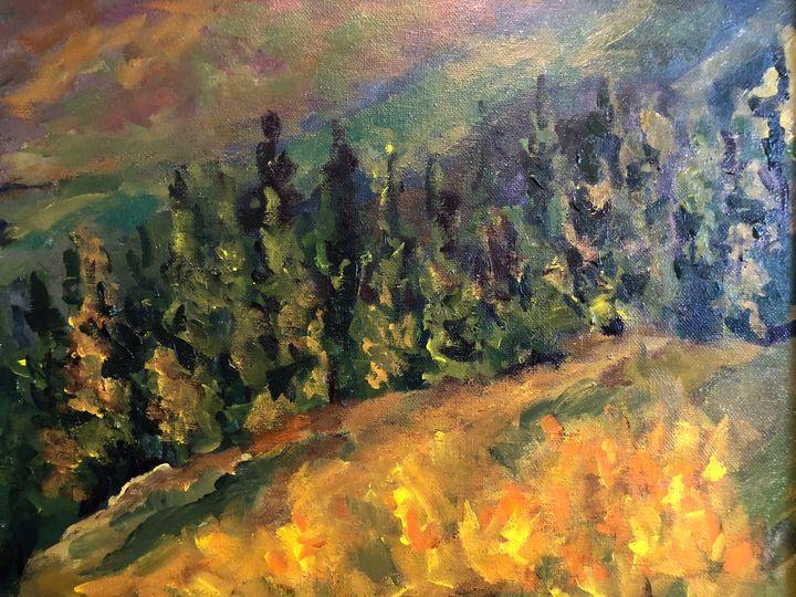Tahoe Slopes - Ramya Oil Paintings