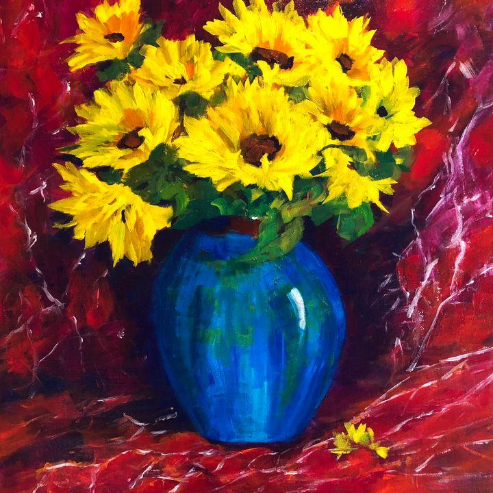 Silk Saree - Ramya Oil Paintings
