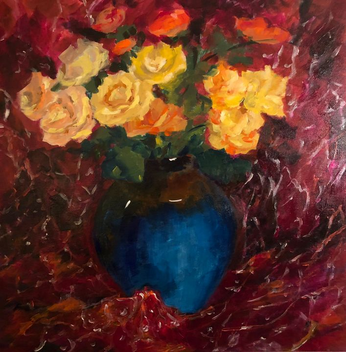 Red Roses - Ramya Oil Paintings