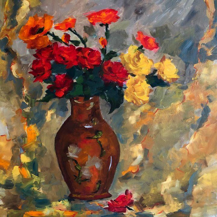 Roses are back - Ramya Oil Paintings