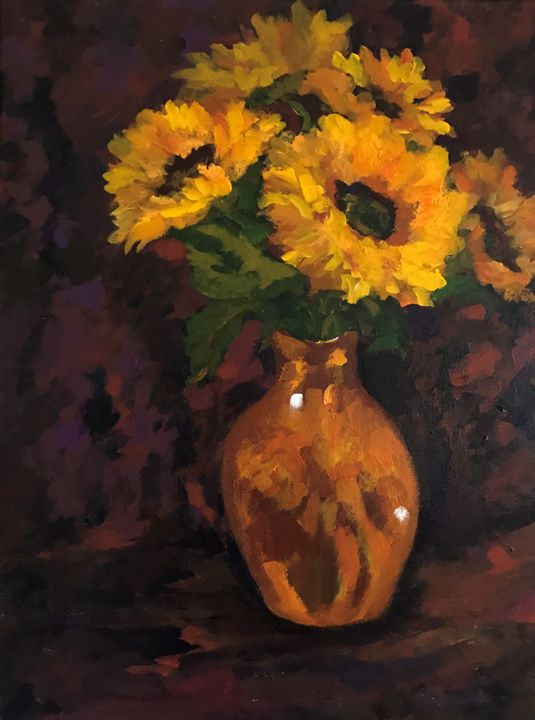 sunflowers - Ramya Oil Paintings