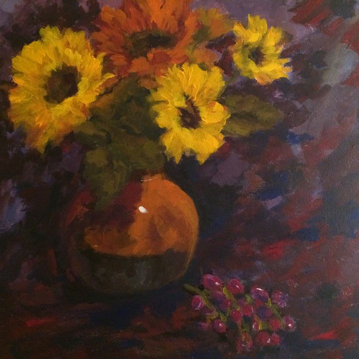 Grapes or Sunflowers - Ramya Oil Paintings