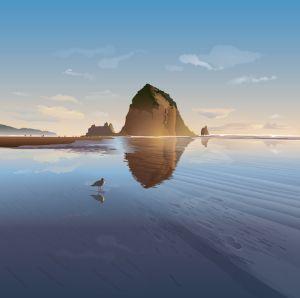Haystack Rock at Cannon Beach - Christine Rains